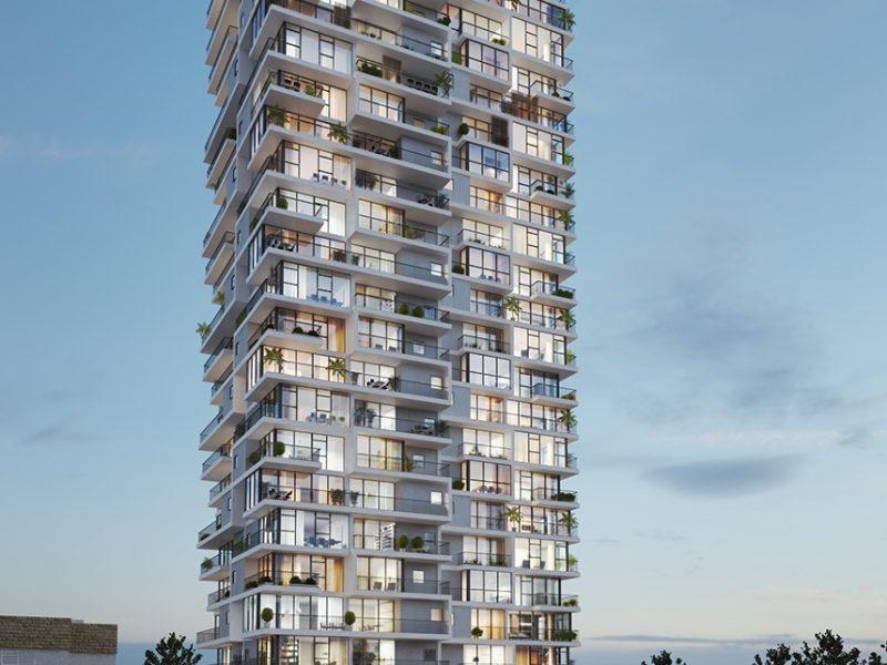 פרויקט אחד העם דירות 2-3 חד' עם נוף לים ולכרמל - החל מ-890,000 ₪ ! מגדל יוקרתי בתכנונו של האדריכל גידי בר אוריין, הפרויקט בשלבי בנייה בשכונת הדר חיפה.